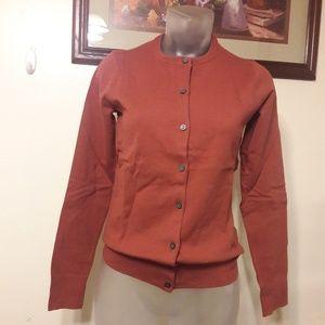 Land's and Supima Crewneck Cardigan sweater